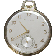 14 Karat Yellow Gold Hamilton Tiffany & Co. Pocket Watch