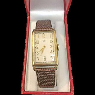 14 K Yellow Gold Vintage men's Elgin watch  Circa 1936