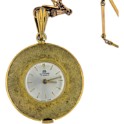 Vintage Gold filled Watch Pendant by Bucherer