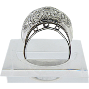 Platinum Round Diamond  dome ring Vintage