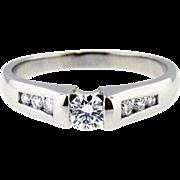 Platinum Vintage Diamond ring  Approx. 0.37cttw