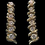 "14 Karat Yellow Gold ""Journey"" Diamond Earrings"