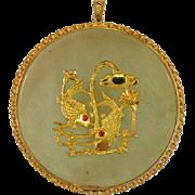 Large Chinese Vintage Folk Amulet Pendant