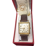 14K Yellow Gold Vintage Hamilton  Men's Watch 1936.