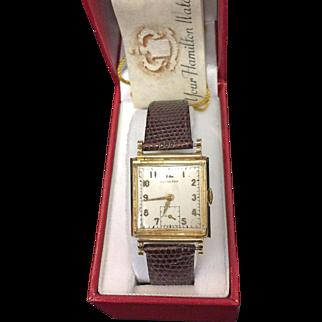 14K Yellow Gold Vintage Hamilton  Men's Watch 1936.