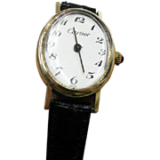Vintage 14K Yellow Gold Cartier Ladies Watch