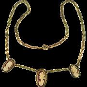 10 & 14 Karat Vintage Cameo Necklace