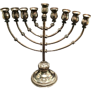 Vintage Sterling Silver Chanukah Menorah
