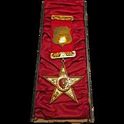 Rare, Antique 10 Karat Yellow Gold Presentation Medal
