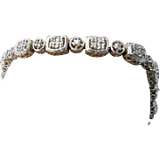 14K white gold Diamond Tennis Bracelet 0.50cttw.