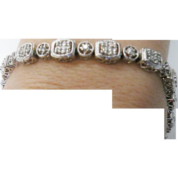 14K white gold Diamond Tennis Bracelet 0.50cttw.