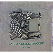 Iconic Vintage Barry Kieselstein Cord Authentic Grand Alligator Sterling Silver Belt Buckle