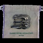 Vintage Barry Kieselstein Cord Authentic Ornate Sterling Belt Buckle