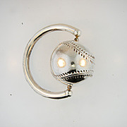 Sterling Silver Vintage  Baseball baby rattle.
