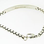Tiffany & C0. Sterling silver box link I D Bracelet