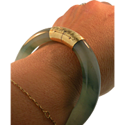14 K Yellow Gold & Jade Bracelet