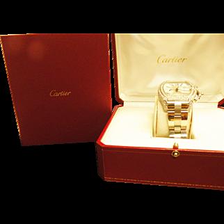 Cartier Stainless Steel &  Diamond Bezel Roadster Watch