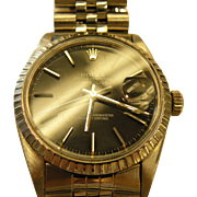 Rolex Men's  Stainless steel  Watch, 38mm  Black Dial Datejust, Jubilee Band.
