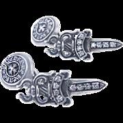 Chrome Hearts Sterling Silver & Diamond Cufflinks