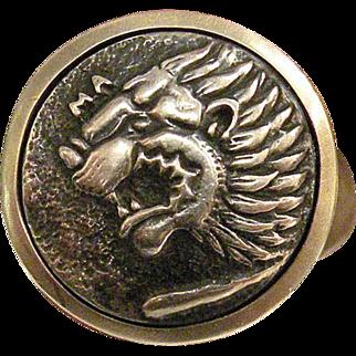David Yurman Sterling Silver Lion Head Ring Size 9