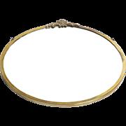 Brass Round Art Deco Mirror c early 1900's
