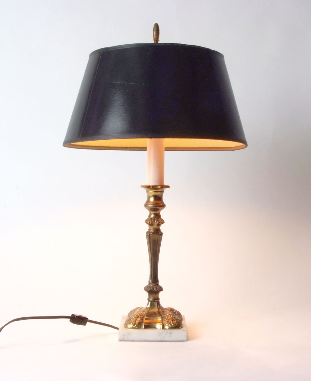 Brass and Marble Table Lamp English