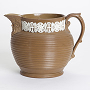 Jasperware Brown Pitcher