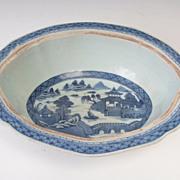 Blue Cantonese Bowl   , Circa 1850
