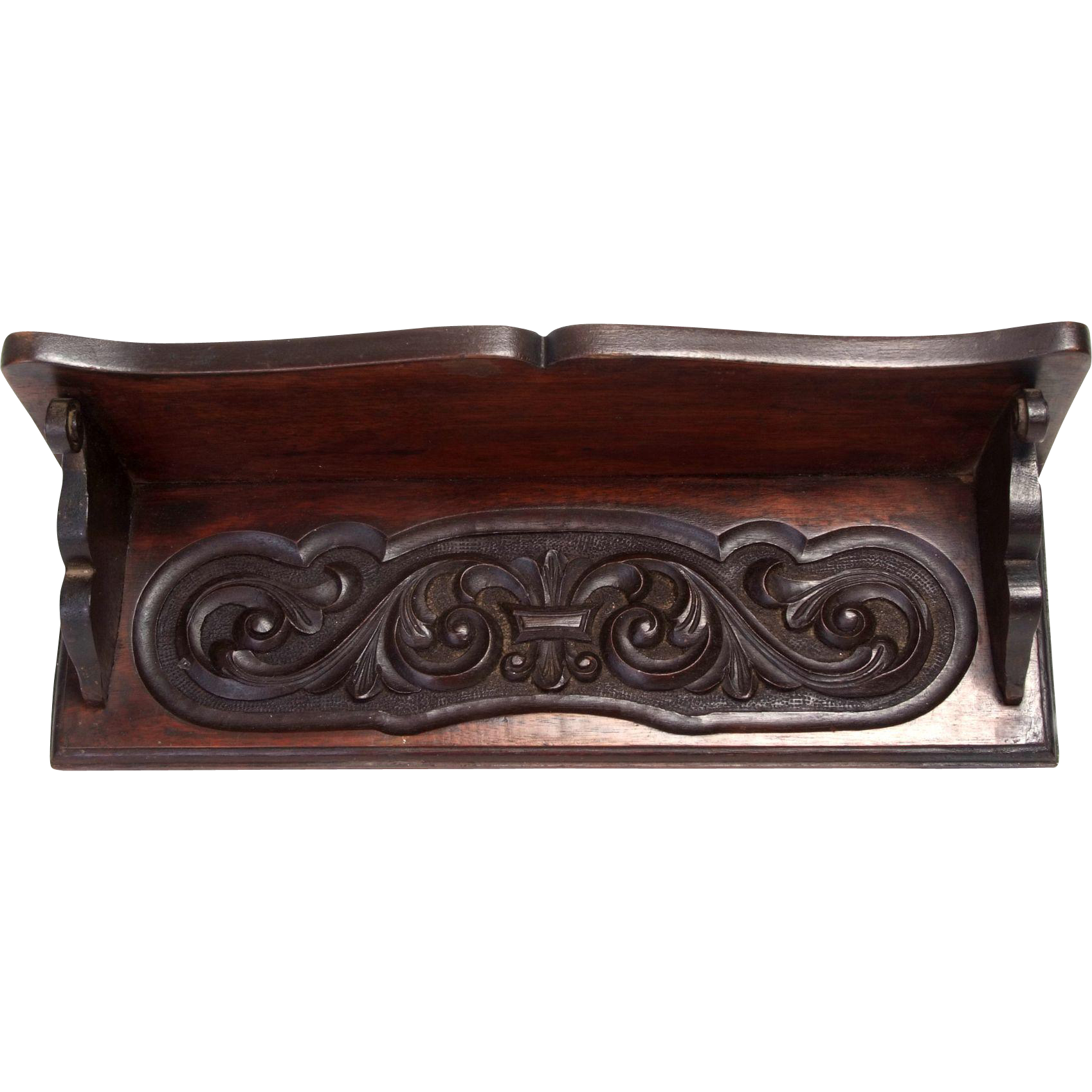 Carved wooden wall shelf from doriswarehouse on ruby lane