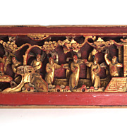 Chinese Door Decoration, Circa 1865