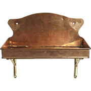 Copper & Brass Shelf Circa 1890's