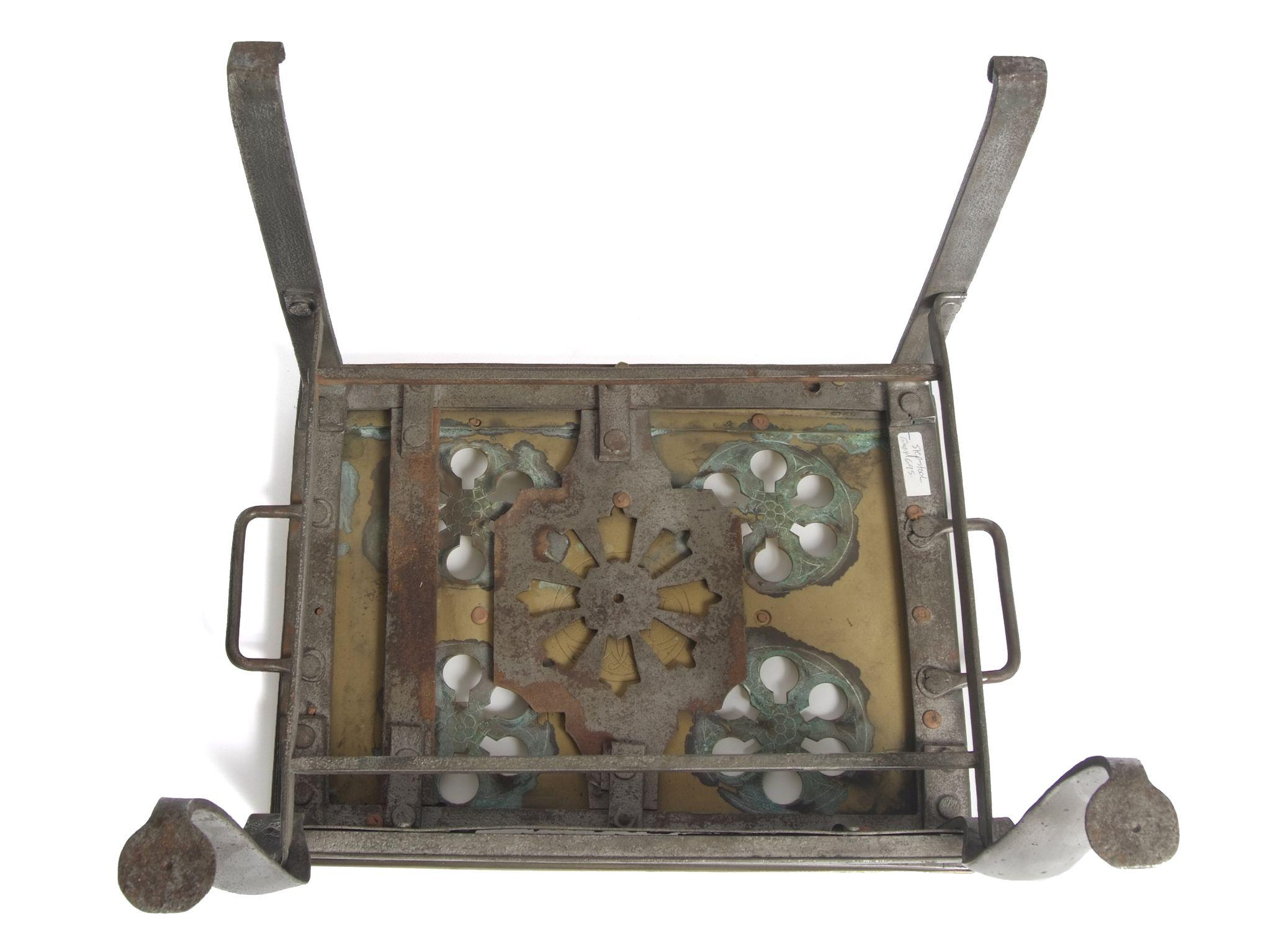 Brass Amp Pewter Footman Carriage Step Stool From