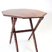 Octagonal Folding Table circa 1875