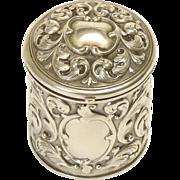 Silver over brass Vanity Jar