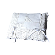 White Lace Pillow