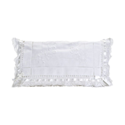White Lace Rectangular Pillow