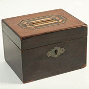 Wooden Money Box with Key Hole, Circa 1890