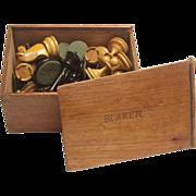 Wooden boxed chess set: Circa 1875