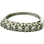 Elegant Vintage Diamond Band Ring in Solid Platinum