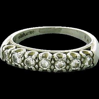 Elegant Vintage Diamond Band Ring in Solid Platinum