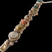 Vintage 1940s-1950s 14 Karat Gold Slide Bracelet