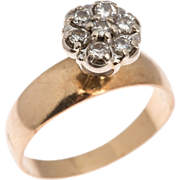 Vintage Diamond Ring in Fourteen Karat Gold