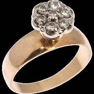 Vintage Diamond Ring in Fourteen Karat Gold