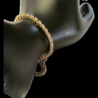 1.5 Carat Diamond Fourteen Karat Yellow Gold Tennis Bracelet