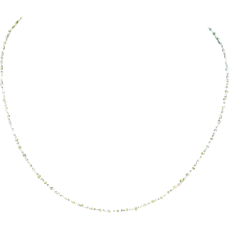 Emerald bead and 18 Karat Gold Necklace