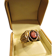 2.24 Carat Red Spinel Solitaire Ring in 18 Karat Gold with Accenting Diamonds