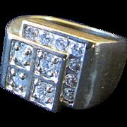 1960s or 1970s Multi Solitaire Diamond Ring
