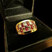 Spectacular Ruby and Diamond 18 Karat Gold Ring