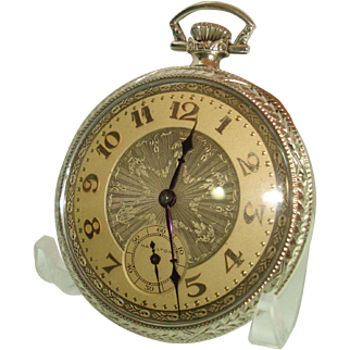 1929 Hamilton 14 Kt white Gold 12 Size Pocket Watch Model 914  Professoinally Serviced
