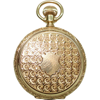 1888 Elgin14 Kt Gold  Lever Set HuntCase Pocket Watch 6 Size